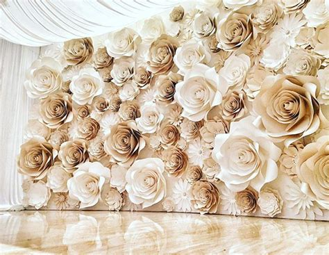 How To Make Paper Wall Flowers - 25 best ideas about paper flower wall on