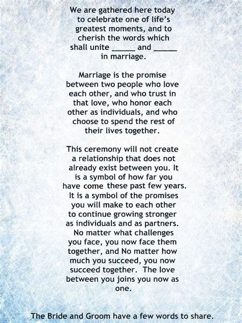 Wedding Ceremony Greeting by 26 Best Wedding Ceremony Readings Poems And