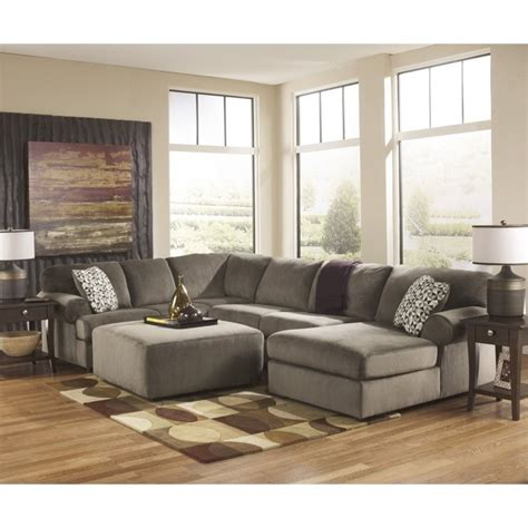 ashley dune sectional ashley jessa place 4 piece microfiber right chaise