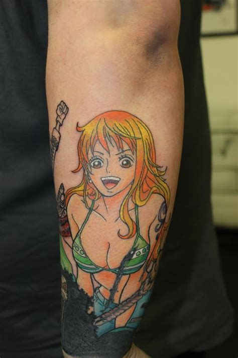 nami tattoo nami has been added to this one sleeve