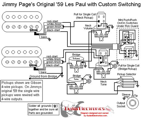 jimmy page les paul wiring wiring diagram