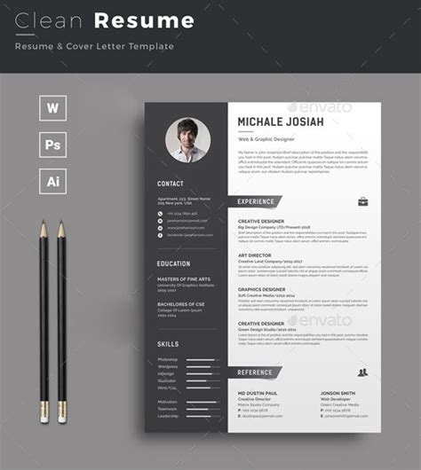 indesign resume template 20 best professional indesign resume cv template 2018
