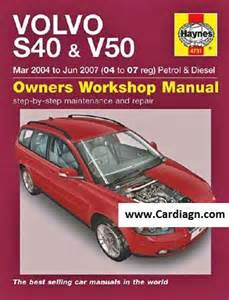 2007 Volvo S80 Owners Manual 2005 Volvo Models S40 V50 Wiring Diagrams Pdf Car