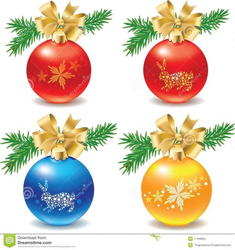 icon set of christmas balls decorations stock vector