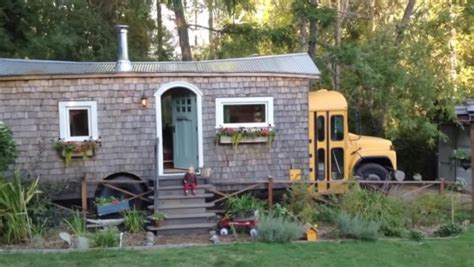 tiny house bus family s school bus tiny house