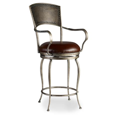 furniture stools medium metal barstool with leather