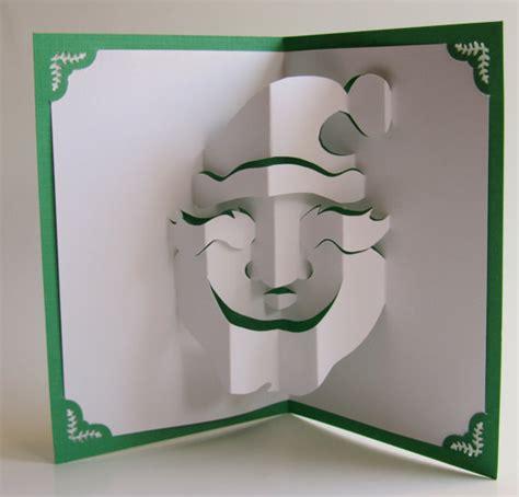 how to make a 3d pop up card santa claus pop up card home d 233 cor 3d handmade cut