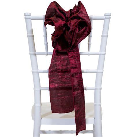 crushed taffeta flower chair accent burgundy