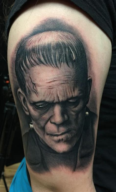 frankenstein portrait tattoo by bob tyrrell tattoonow