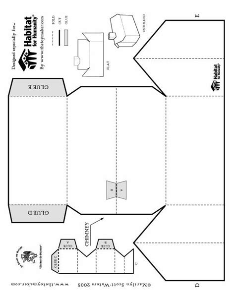 printable paper house template foldable printable paper house scouts