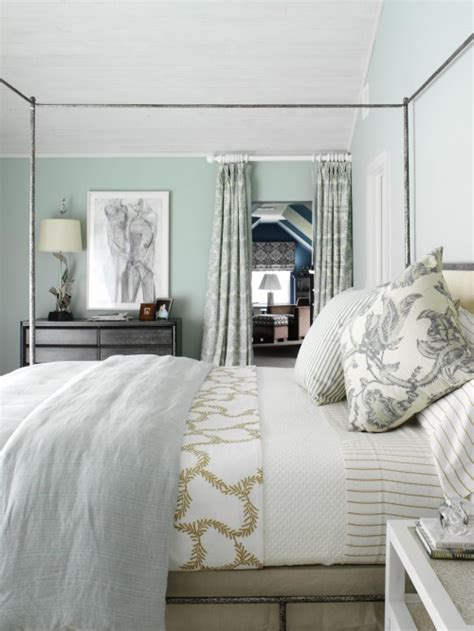 Grey And Green Bedroom Decor by Metal Canopy Bed Cottage Bedroom Tara Seawright