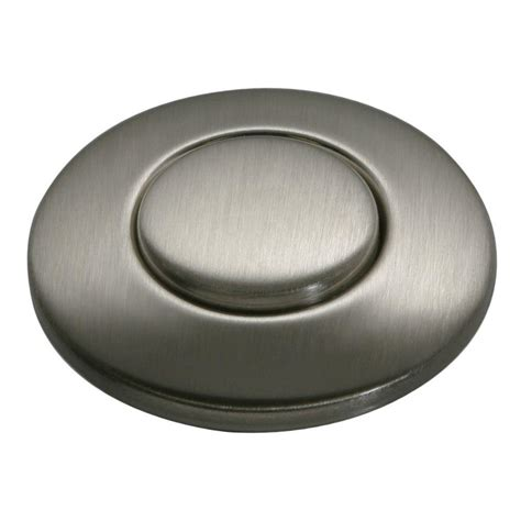 Sink Top Switch Button insinkerator sinktop switch push button in satin nickel