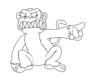 evil monkey coloring pages how to draw the evil monkey from family guy step by step