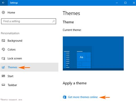 more themes for windows 10 how to get more themes online from store windows 10