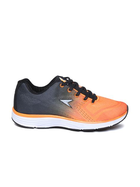 sports power shoes myntra power by bata orange charcoal grey cosmo