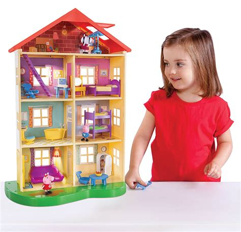 peppa pig family home playset with lights and sounds amazon peppa pig lights and sounds family home playset