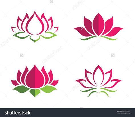 beauty layout vector beauty vector lotus flowers design logo template icon