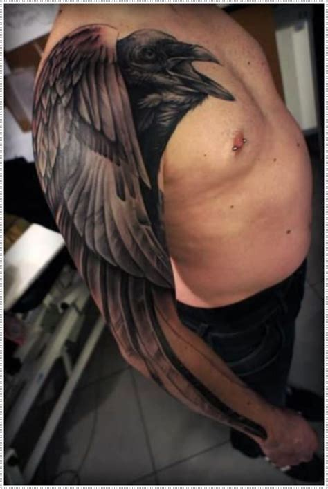 raven sleeve tattoo designs 29 striking tattoos with meanings