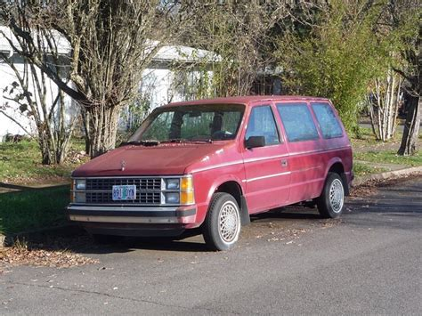 1985 dodge caravan curbside classic 1985 dodge caravan chrysler hits a