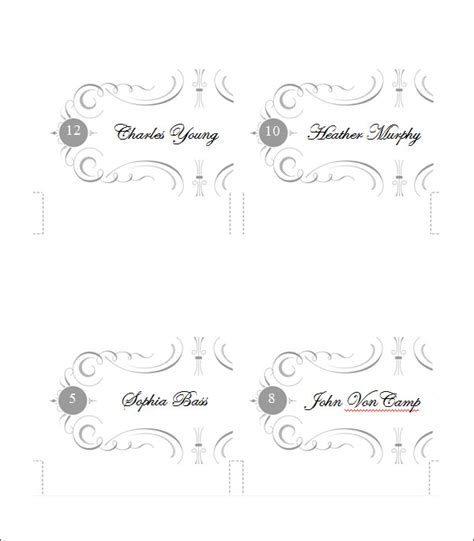 printable place card templates designs