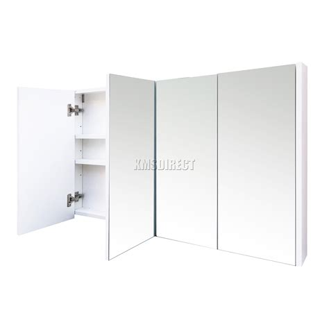 triple mirror bathroom cabinet foxhunter triple 4 door wall mount mirror bathroom cabinet