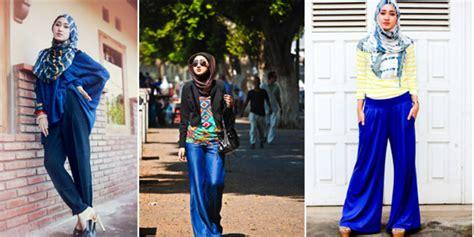 Celana Kulot Bermotif tetap modis dengan celana kulot ala hijabers co id