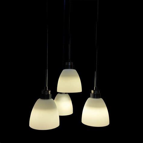4 light pendant light 4 light led hanging pendant l in white shade l