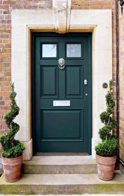 dark green front door colors colour  ideas door