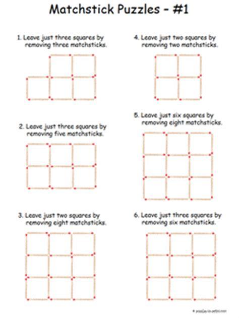 matchstick patterns worksheet tes logic puzzles worksheets pdf 1000 ideas about rebus
