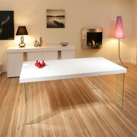 why is large glass dining table in high ag design large rectangular high gloss white dining table