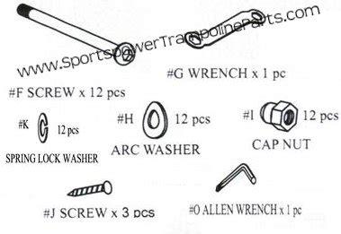 hardware kit for the 12 sportspower tr 126com glz