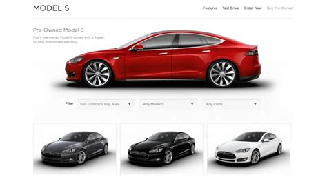 Pre Owned Tesla Image Tesla Model S Pre Owned Page Screencap Size 1024