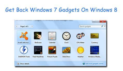gadget bureau windows 8 install windows 7 sidebar gadgets free backupsignal