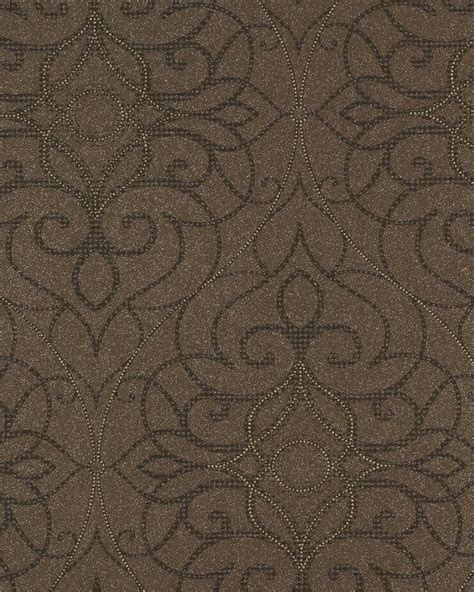 non woven wallpaper shades rasch textil 223483 vines baroque brown anthracite