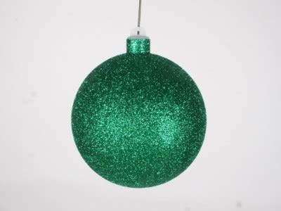 winterland inc glitter ball ornaments green ornaments