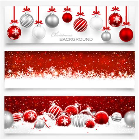 design banner natal 016 christmas ball banners vector vector banner free