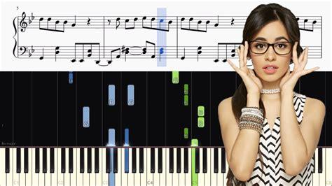 tutorial piano havana camila cabello havana piano tutorial sheets chords