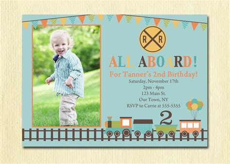 2Nd Birthday Invitation Templates
