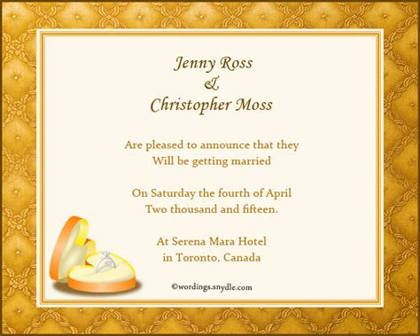 Wedding Announcement Reception Wording by Wedding Announcement Wording Wordings And Messages