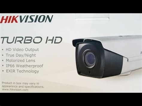 Hikvision Ds 2ce16d7t It3z demo of hikvision ds 2ce16d7t it3z motorized lens turbo hd