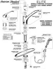 Parts Of A Kitchen Faucet Diagram Plumbingwarehouse American Standard Commercial Faucet Parts For Model 4453 4454