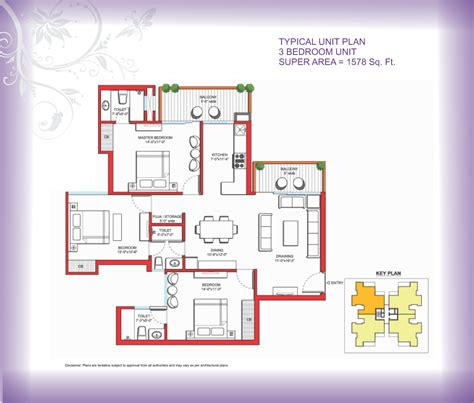 area of a floor plan tulip violet gurgaon carpet area