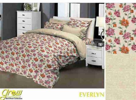 Sprei Katun Grow Uk 160x200x25 12 detail product sprei dan bedcover everlyn maroon toko