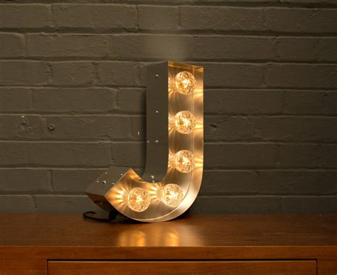 j up letter light up marquee bulb letters j by goodwin goodwin