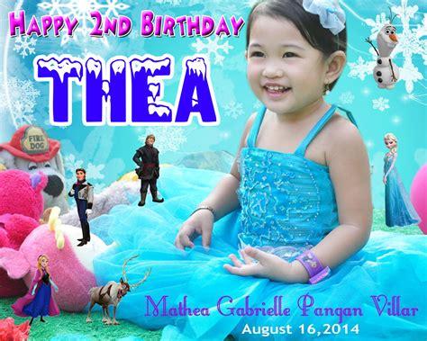theas  birthday frozen cebu balloons  party