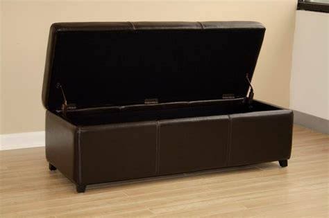 genuine leather storage ottoman leather dark brown storage bench ottoman affordable