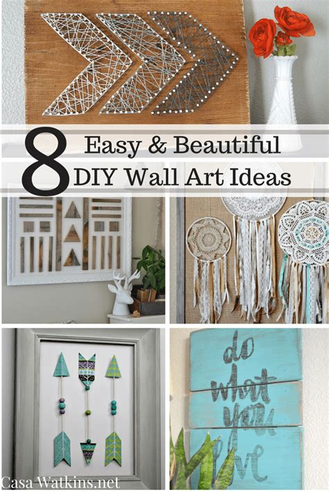 home decor wall art ideas 8 easy and beautiful diy wall art ideas casa watkins living