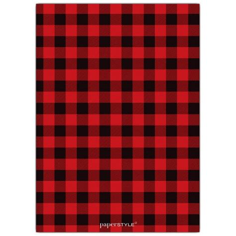 red flannel birthday photo invitations paperstyle