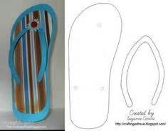 flip flop card template kleurplaat slippers kleuters thema de schoenenwinkel