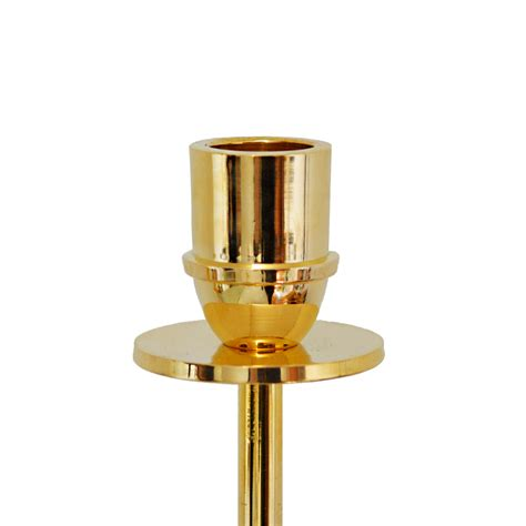 Brass L Hilke Collection Candlestand In Brass L Quot Luce Sole